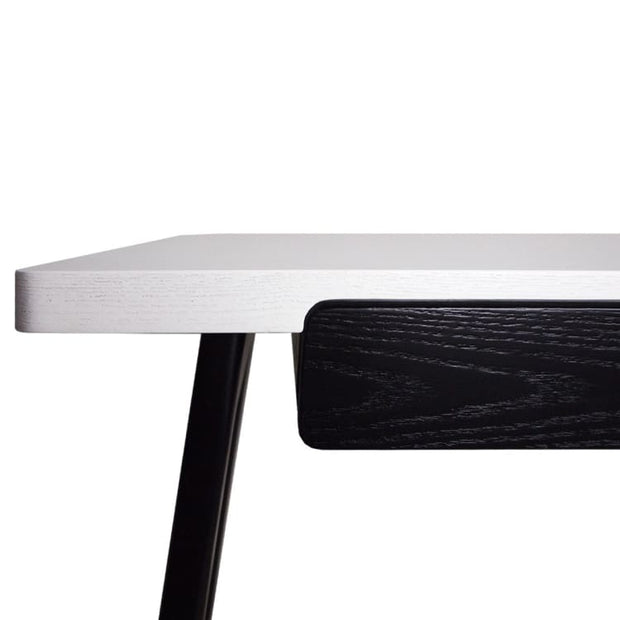 Marcelle Study Table – Black White - Home And Style