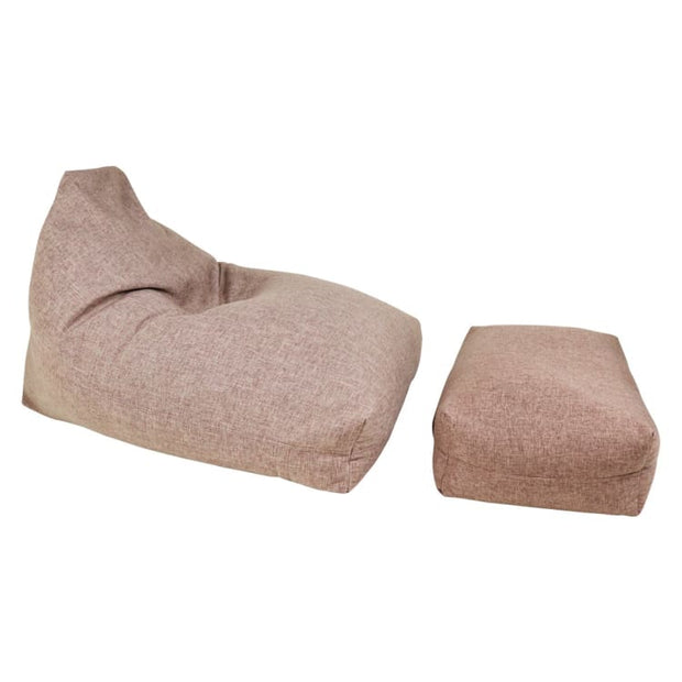 Moby Bean Bag + Ottoman in Brown - Home And Style
