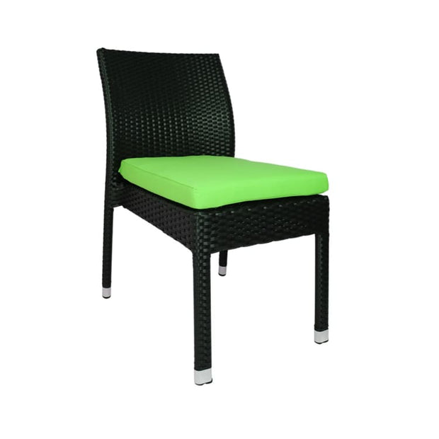 Monde 2 Chair Dining Set Green Cushion by Arena Living - Home And Style