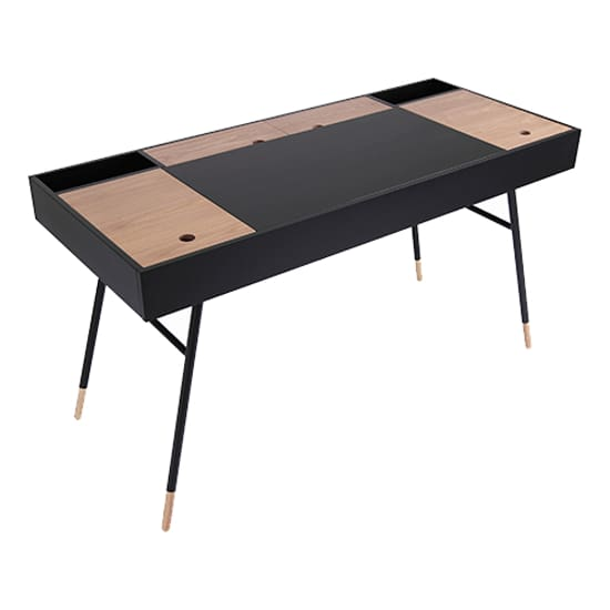 Morse Study Table - Black Ash, Oak - Home And Style