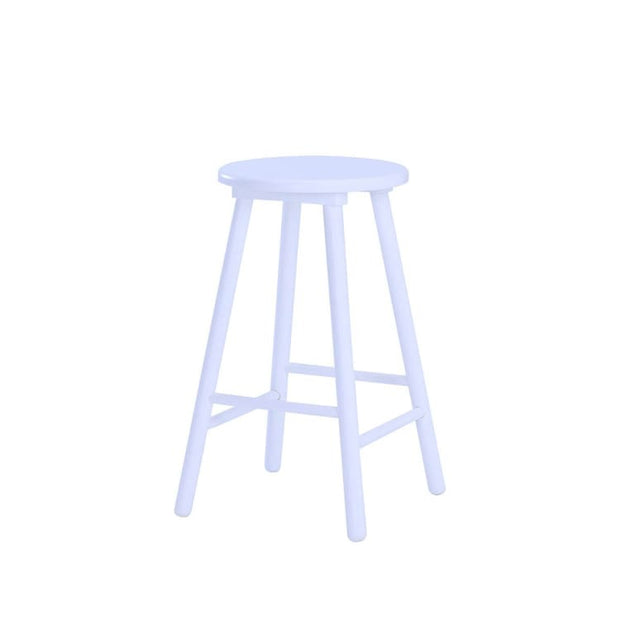 Olina Bar Stool, White - Home And Style