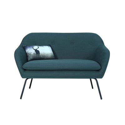 Picanto 2 Seater Sofa with Matt Black Epoxy Leg, Dark Green - Home And Style