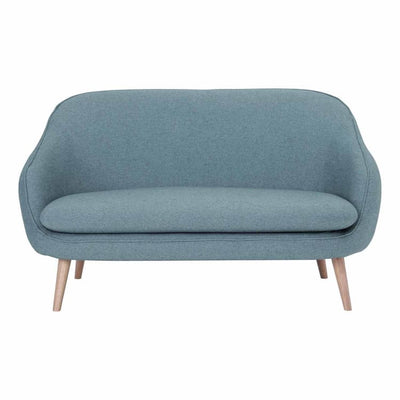 Prius 2 Seater Sofa Oak leg in Blue - Home And Style