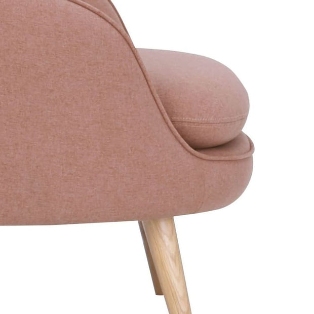 Prius Armchair Oak Leg in Burnt Umber - Home And Style