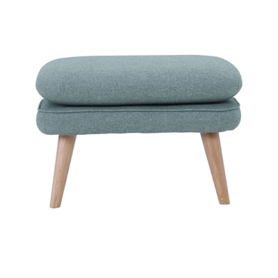 Prius Ottoman with Oak leg in Blue - Home And Style