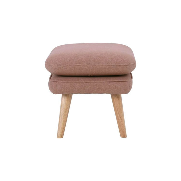 Prius Ottoman with Oak leg in Burnt Umber - Home And Style