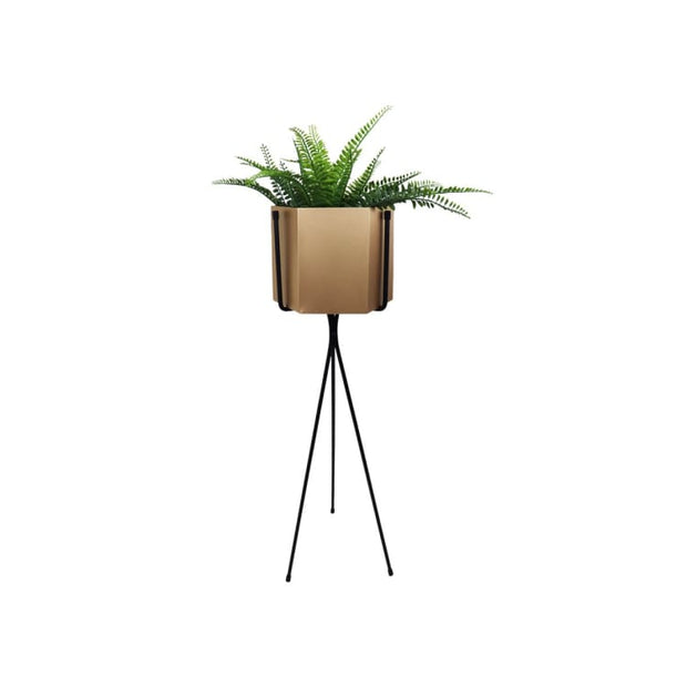 Radiant Brass Free Standing Planter - Home And Style