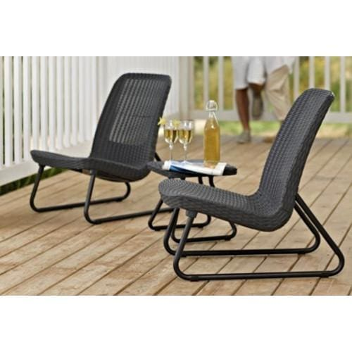 Rio Patio Set Dark Grey by Keter - Home And Style
