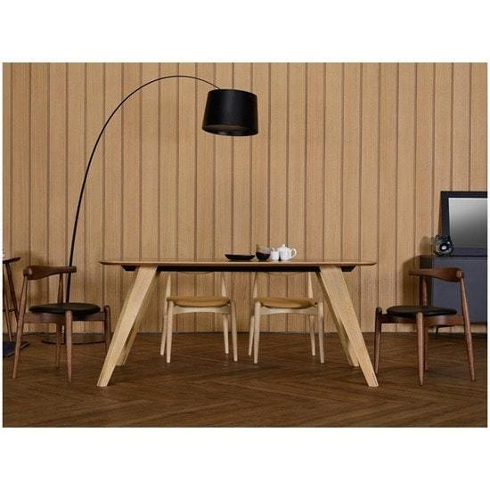 Ryder Oak Dust Brown Lacquered Dining Table 1.8m - Home And Style