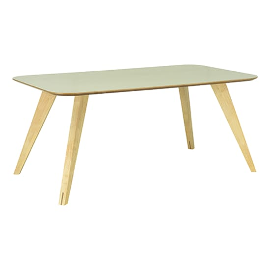 Ryder Oak Dust Green Lacquered Dining Table 1.8m - Home And Style