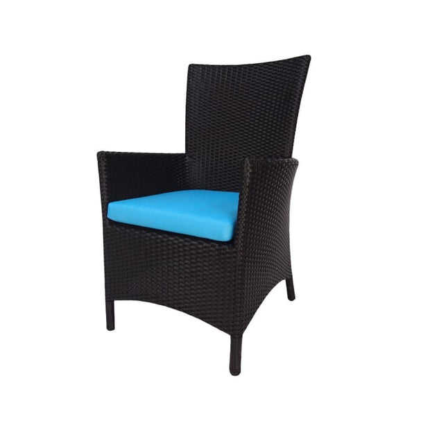 Santa Patio Set, Blue Cushion by Arena Living - Home And Style