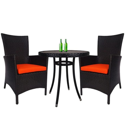 Santa Patio Set, Orange Cushion by Arena Living - Home And Style
