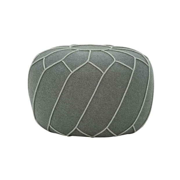 Saturn Pouf in Battleship grey - Home And Style
