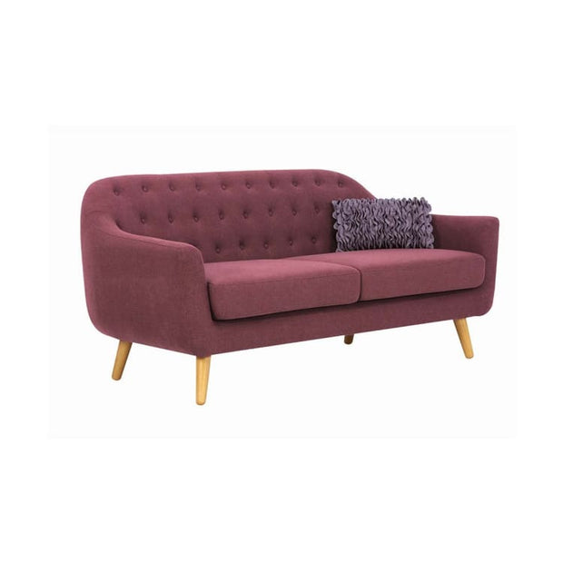 Senku 3 Seater Sofa with Oak Leg, Orchid - Home And Style