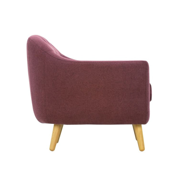 Senku Armchair with Oak Leg, Orchid - Home And Style
