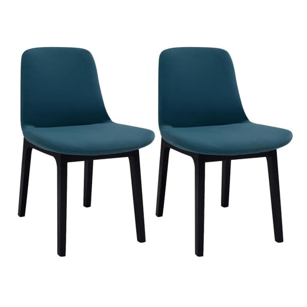 Set of 2 Aurora Fabric Dining Chair Clover Colour - Home And Style