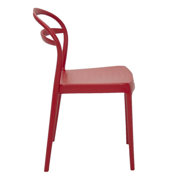 Sissi Chair Hole Backrest Red by Tramontina - Home And Style