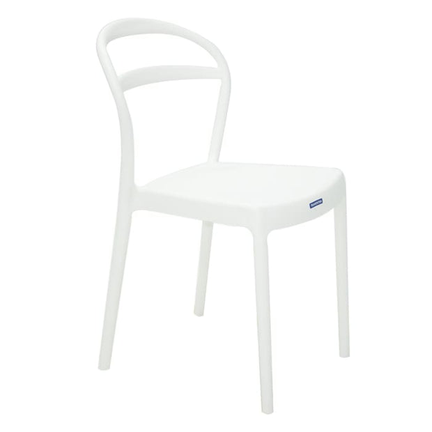 Sissi Chair Hole Backrest White by Tramontina - Home And Style