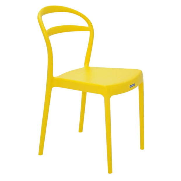 Sissi Chair Hole Bkrest Yellow by Tramontina - Home And Style