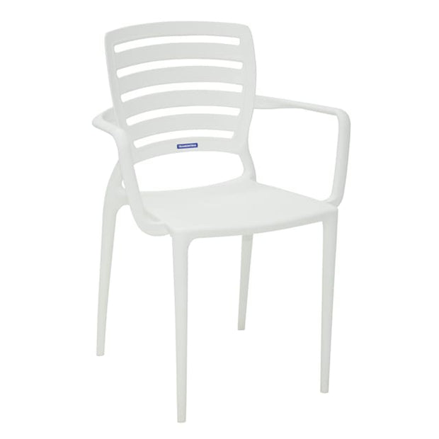 Sofia Armchair Horizontal Backrest White by Tramontina - Home And Style