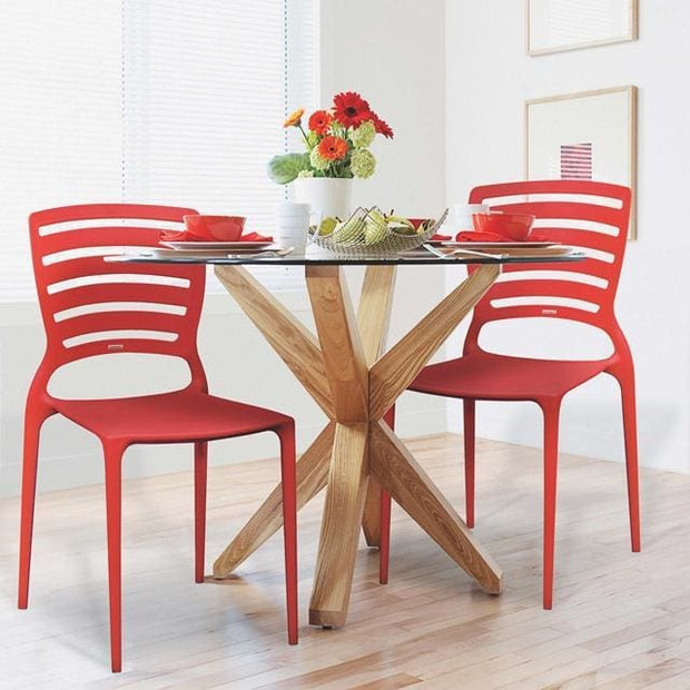 Sofia Chair Horizontal Backrest Red by Tramontina - Home And Style