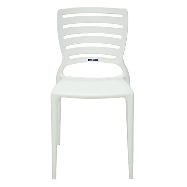 Sofia Chair Horizontal Backrest White by Tramontina - Home And Style