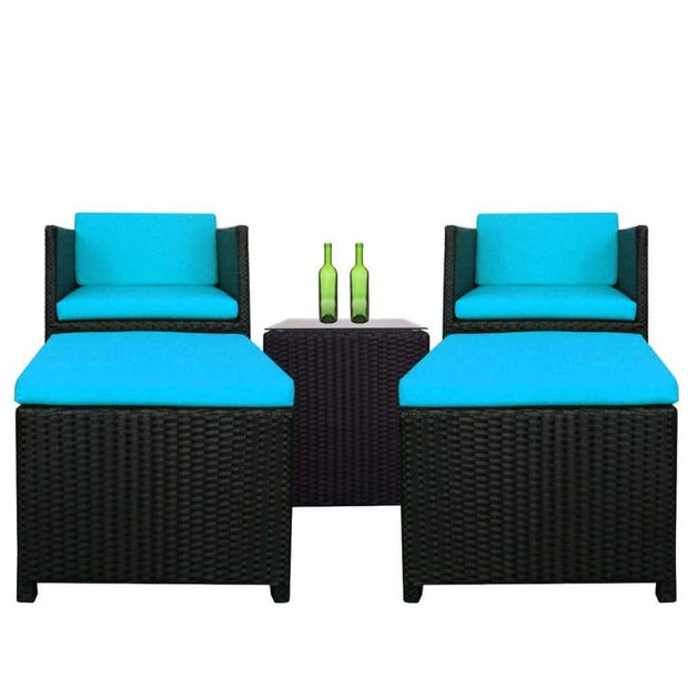 Splendor Armchair Set, Blue Cushions by Arena Living - Home And Style