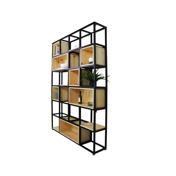 Stefan Scandi-Industrial Display Bookshelf - Home And Style