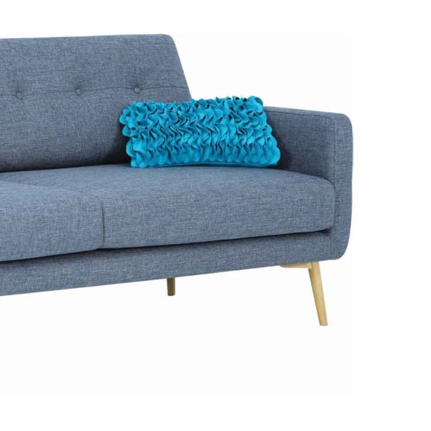Stream 3 Seater Sofa with Oak Leg, Seal - Home And Style