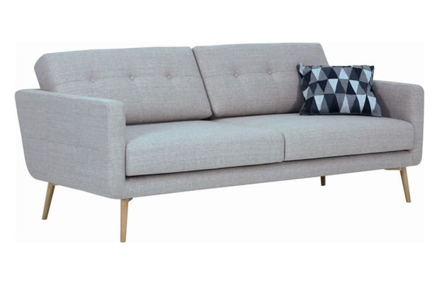 Stream 3 Seater Sofa with Oak Leg, Timberwolf - Home And Style