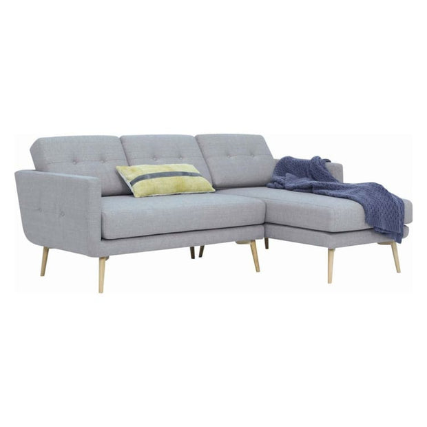 Stream 3 Seater Sofa with Right Chase with Oak Leg, Timberwolf - Home And Style