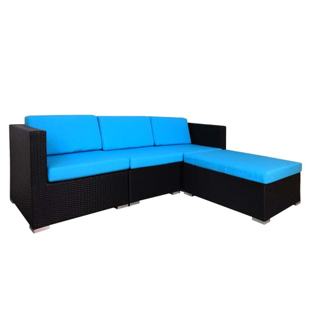 Summer Modular Sofa Set II, Blue Cushions by Arena Living - Home And Style
