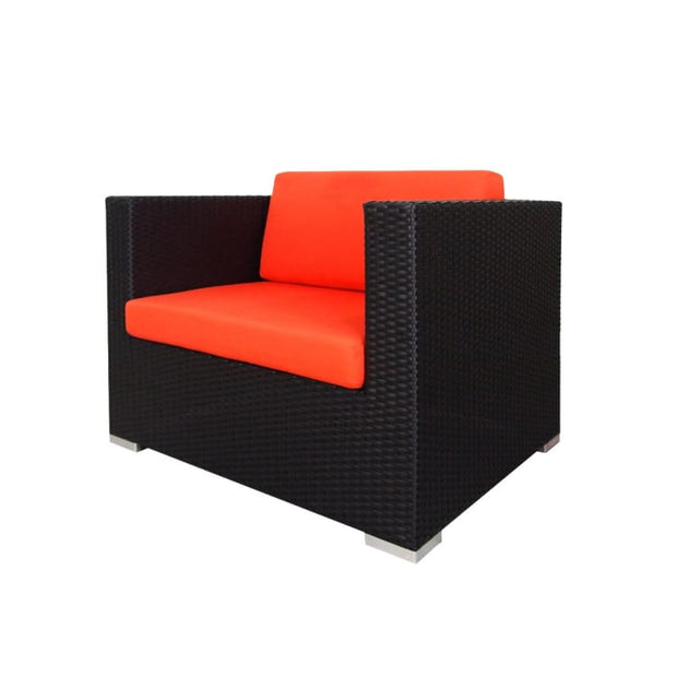 Summer Modular Sofa Set II, Orange Cushions by Arena Living - Home And Style