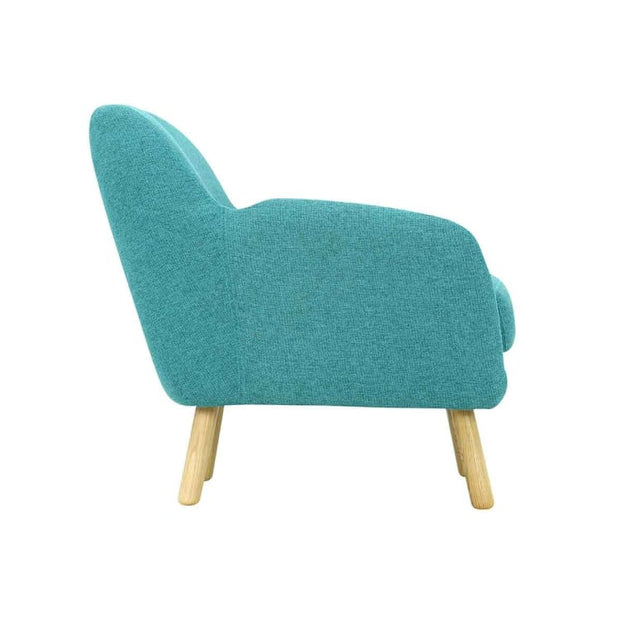 Wagon Armchair with Oak Leg, Nile green - Home And Style