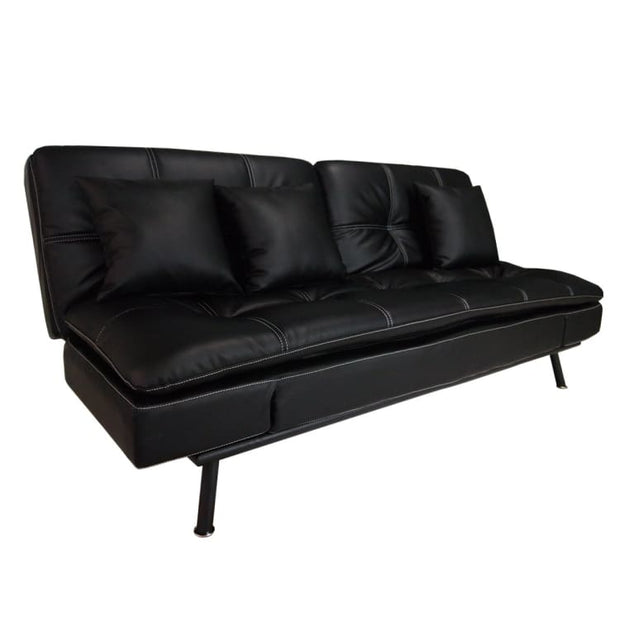York Sofa Bed, Black (2.5 Seater) - Home And Style