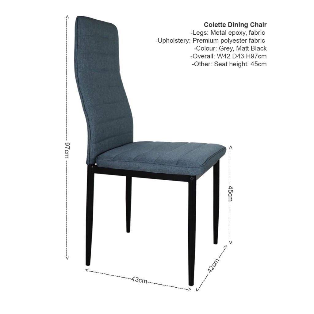 Alva Dining Table+4 Colette Chairs