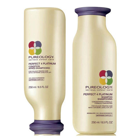 Pureology Perfect 4 Platinum Shampoo 250 ML And Conditioner 250 Ml:Hair Care