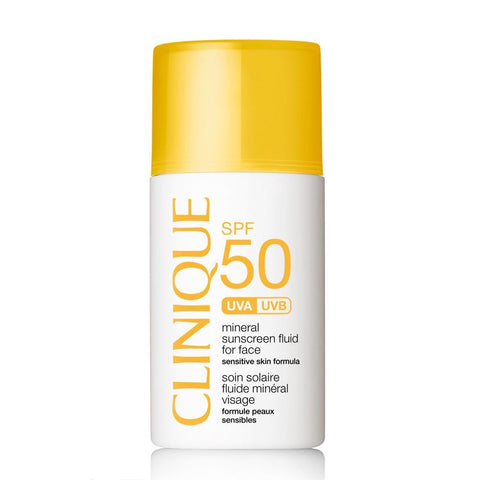 Clinique Mineral Sunscreen Fluid For Face Spf 50 For Sensitive Skin:Skin Care