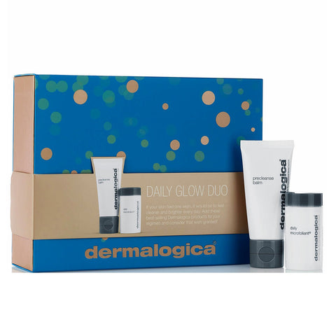 Dermalogica daily glow duo along side its packing box