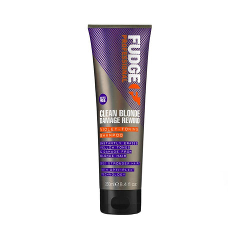 Fudge Professional Clean Blonde Damage Rewind Violet Toning Shampoo