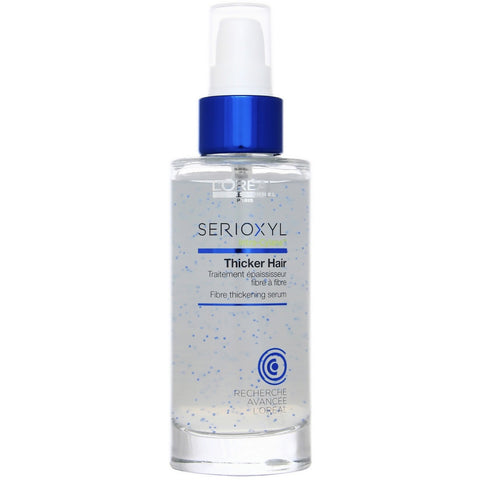 A dispenser bottle of Loreal Serioxyl Thicker Hair Serum | Active Care Store