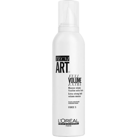 A spray can of Loreal Tecni Art Full Volume Extra Strong Hold Volume Mousse | Active Care Store