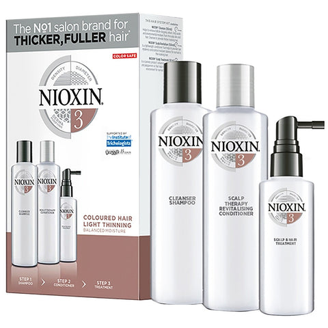 Nioxin System 3 Kit Coloured Hair With Light Thinning