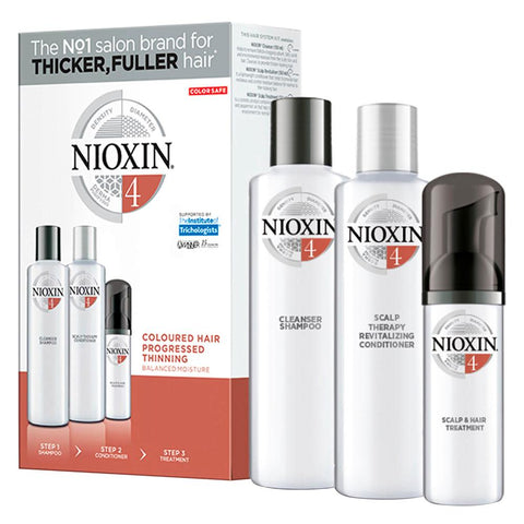 Nioxin System 4 Kit Coloured Hair With Progressed Thinning