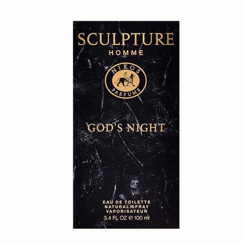 Nikos Sculpture Homme God's Night Eau De Toilette Spray For Men
