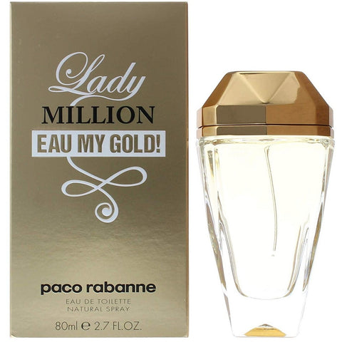 Box and Bottle of Paco Rabanne Lady Million Eau My Gold EDT For Women | Active Care Store