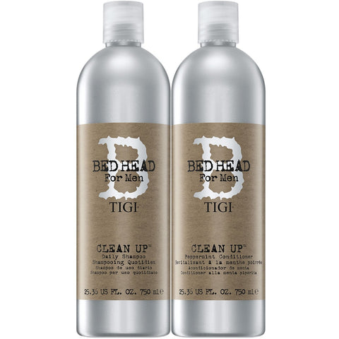 TIGI Bed Head for Men clean up Shampoo and Conditioner