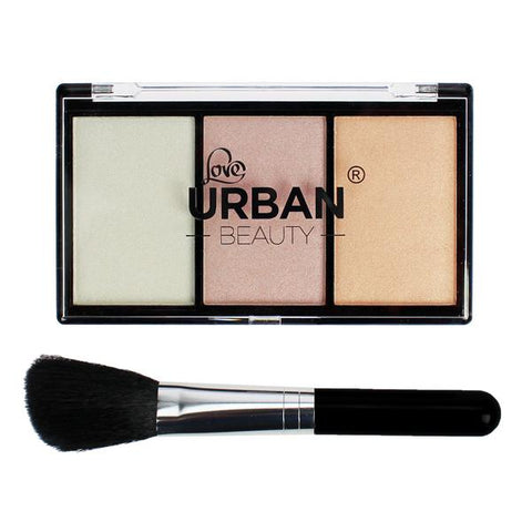 Urban Beauty Make Up Powder Palette with Brush | Active Care Store