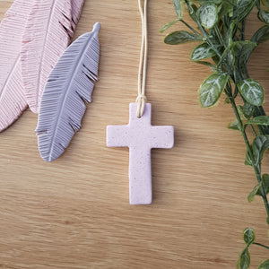 Pink Cross Pendant