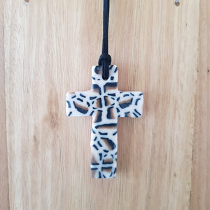 Animal Print Cross Pendant